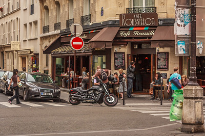 Cafe on the Rue Cler in Paris.