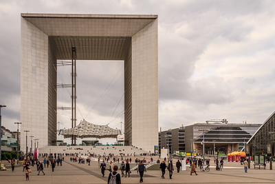 The Grande Arche in the downtown commercial area of Paris called La Défense.