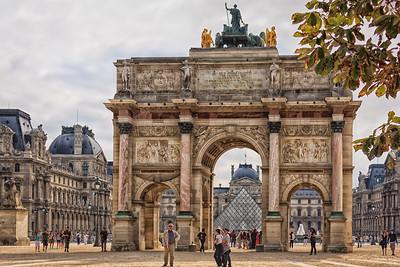 The other Arc de Triomphe (du Carrousel) in Paris