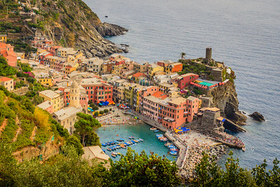 Vernazza, one of the five towns
