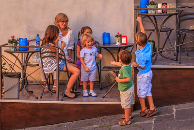 A Norman Rockwell moment in Montelcino
