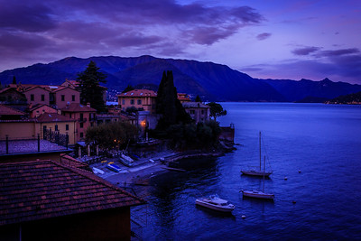 Varenna beachfront at dawn