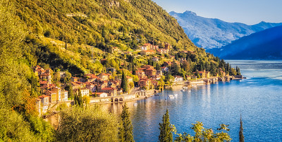 The town of Fiumelatte, on Lake Como;