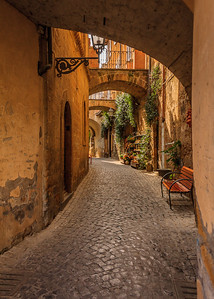 An alley off the main piazza