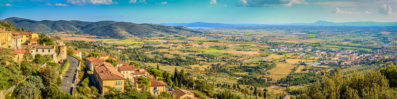Tuscan and Umbrian countryside