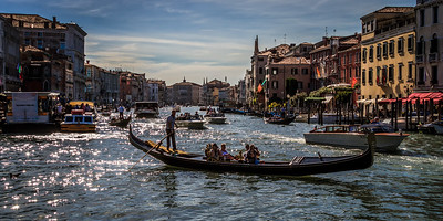 The very busy Grand Canal