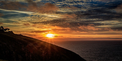 Sunset over Point Reyes Headlands