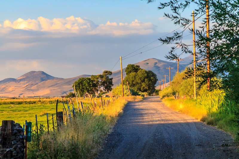 Private road to a ranch