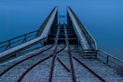 Historic Lifeboat Station Launch Ramp during Blue Hour