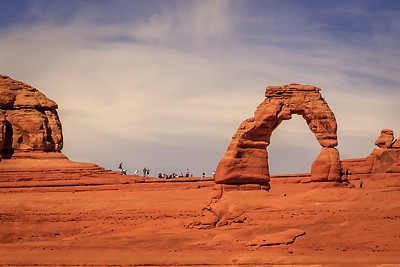 The iconic Delicate Arch, in Arches Natiional Park,