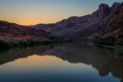 The Colorado River just prior to sunrise