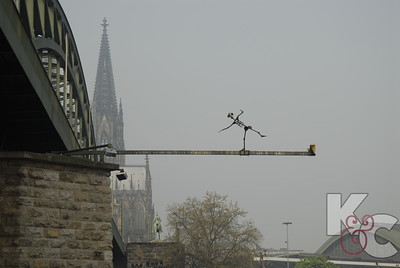 Whimsical Art on Cologne Bridge