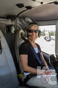 Kathy in Helicopter over Grand Canyon
