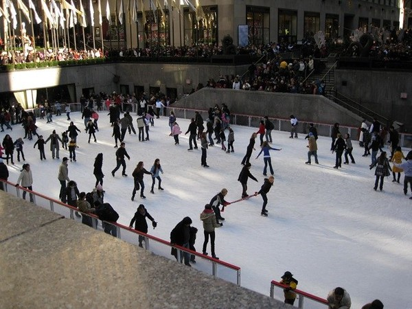 Ice Skaters at Rockefeller Center, NYC