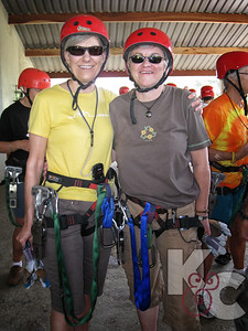Kathy & Candy Getting Ready to Zip-Line