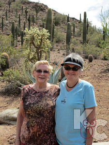 Big and Little Sis at Desert Botanical Gardens