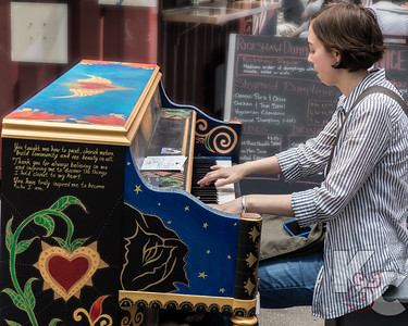 NYC Visitor Playing Street Piano