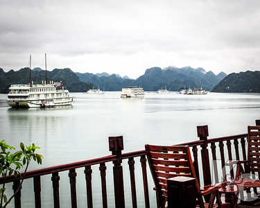 Junks on Ha Long Bay