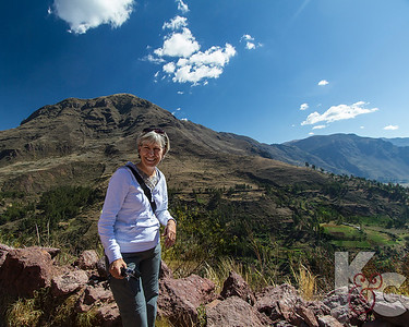 Kathy Overlooking Sacred Valley