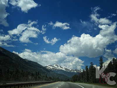 Snow-capped Mountain near Loveland Pass in June
