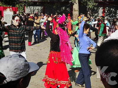 Traditional Dancing Inside the Temple of Heaven Park