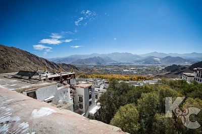 Looking Out Over Drepung Monastery