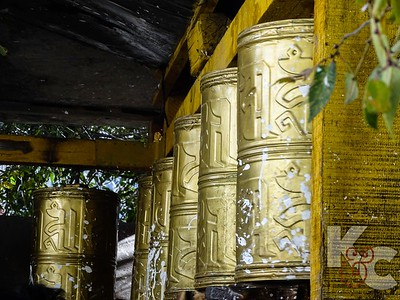 Prayer Wheels at Drepung Monastery