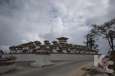 Dochu La Pass With 108 Chortens
