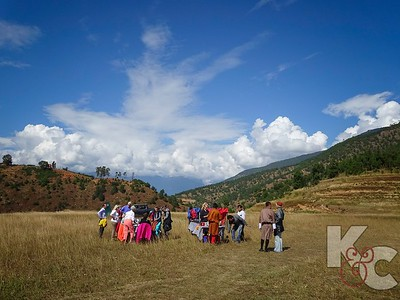 Our Bhutanese Picnic in the Middle of the Field