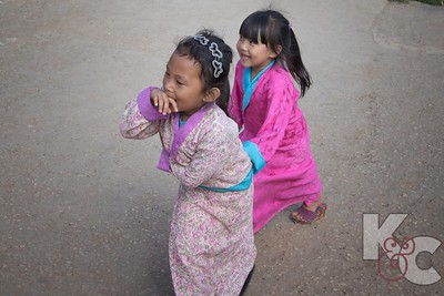 Young Girls Wearing Kiras