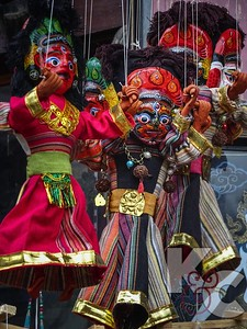 Marionette Puppets For Sale in Durbar Square Kathmandu