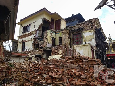 Earthquake Damage on Grounds of Monkey Temple