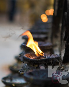Butter Lamps at Monkey Temple