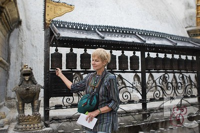 Masha Spinning Prayer Wheels