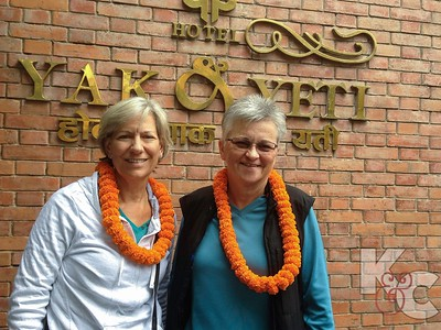 Marigold Garlands Were Presented Upon Arrival to Yak & Yeti Hotel in Kathmandu