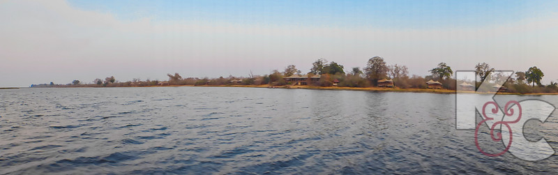 Duma Tau Camp From The Water - Individual Tents Flank The Common Areas
