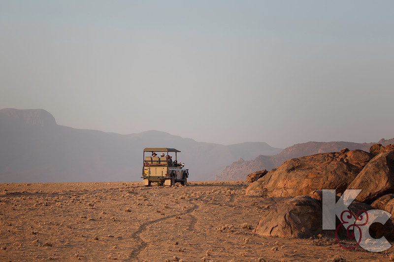 Stopping The Jeeps  For Our First Sundowner