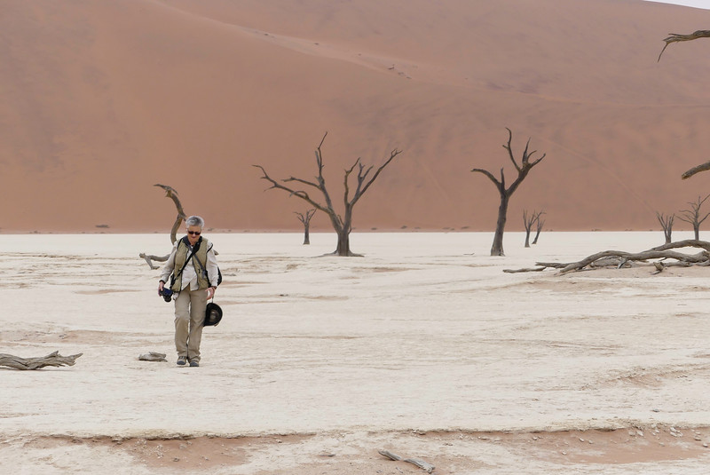 Candy Crossing The Salt Pan Of Deadvlei