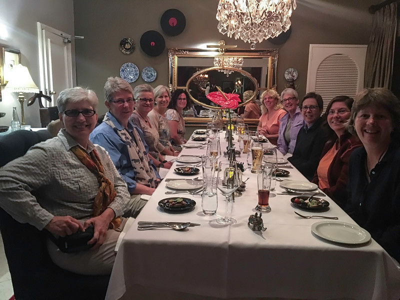 Karen, Wendy, Candy, Kathy, Suzanne G., Suzanne S., Terry, Debbie, Molly & Lori - Our First Dinner Together at The Residence Boutique Hotel