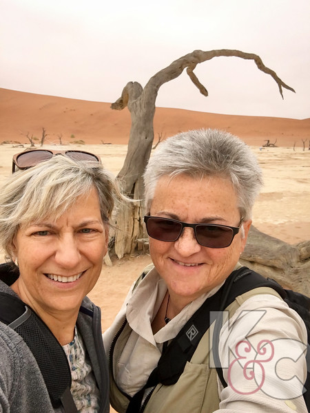 Kathy & Candy Selfie At Deadvlei