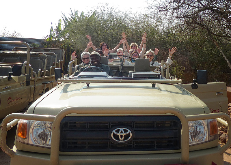 Our Group in Okonjima Jeep