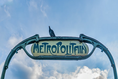 Art Nouveau Metro Sign Crafted for 1900 World's Fair