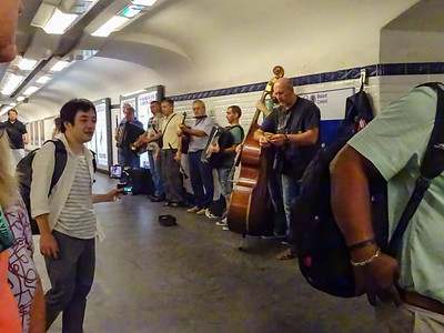 Ukrainian Musicians Performing inside Metro Station