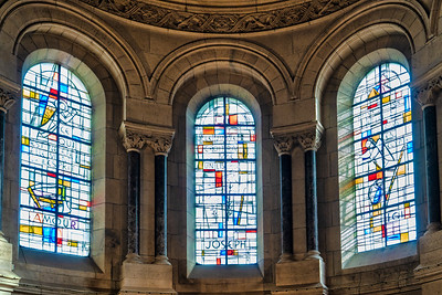 Stained Glass Inside Sacré-Coeur Basilica