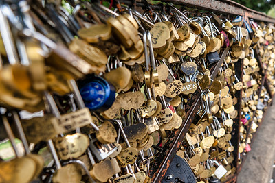 Lovers' Locks Near Basilica