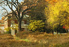 East meadow and house in autumn<br /> Woodend Sanctuary, Chevy Chase, MD