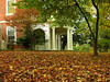 Portico in autumn<br /> Woodend Sanctuary, Chevy Chase, MD