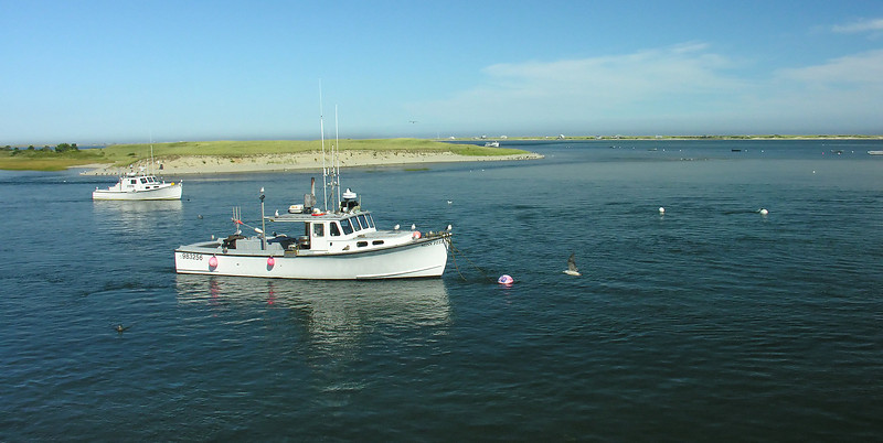 Boats in Chatham Harbor<br /> Chatham, Cape Cod, MA