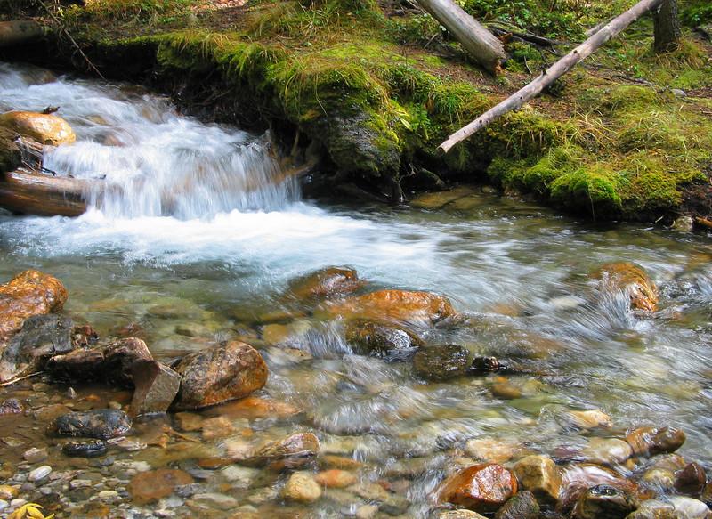 Bottom of Silverton Falls cascade<br /> Banff National Park, Alberta, Canada