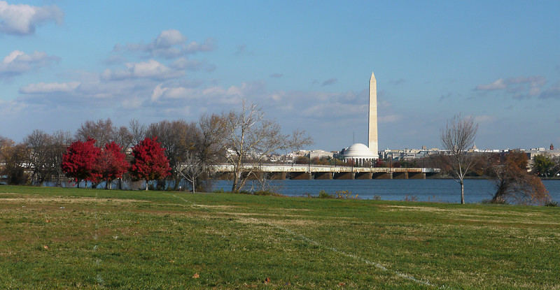 View of Washington, DC across the Potomac<br /> Gravely Point, Arlington, VA